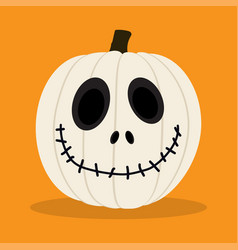 Cartoon white pumpkin vector