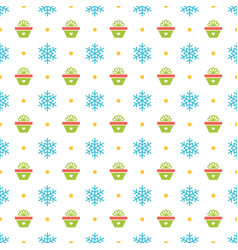 christmas pattern design for birthday vector image