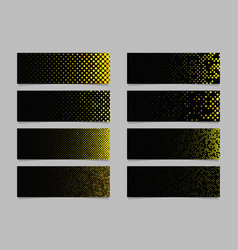 Circle pattern banner background set - modern vector