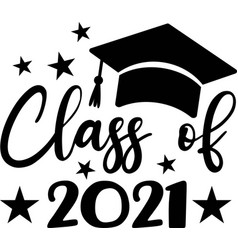 class 2021 black number with education vector image