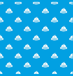 Cleaning purity pattern seamless blue vector
