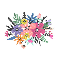 Colourful flowers design vector