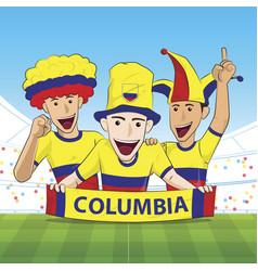 Columbia sport fan vector