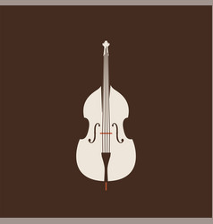contrabass icon isolated string ill set vector image