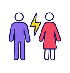 Couple quarrel color icon vector