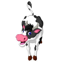 cow cartoon posing vector image