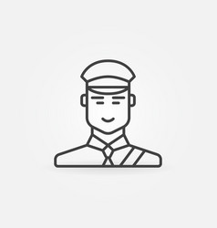Customs officer or inspector icon vector