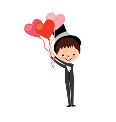 cute husband with heart shaped pumps avatar vector image