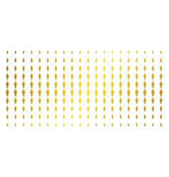 Daemon gold halftone effect vector