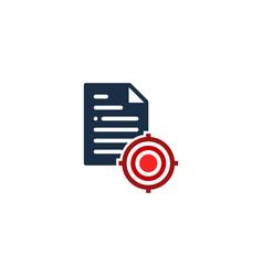 Document target logo icon design vector