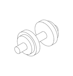 Dumbbell icon isometric 3d style vector image