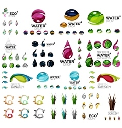 Eco nature concepts icon set vector image