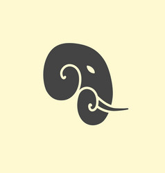 Elephant head logo design vector