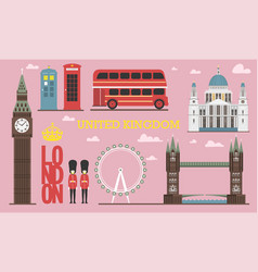 england architecture info graphic vector image
