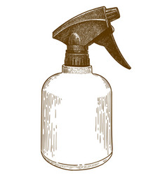 Engraving of spray bottle vector