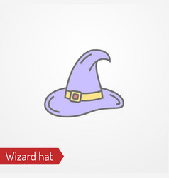 fantasy wizard or magician hat image vector image