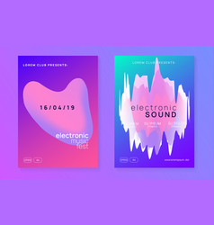 fest poster and flyer for summer music vector image