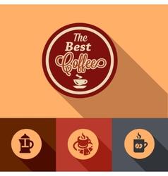 Flat coffee design elements vector