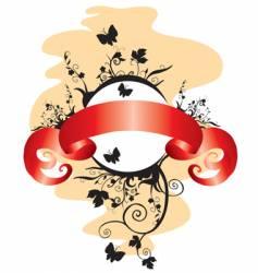 Floral emblem vector