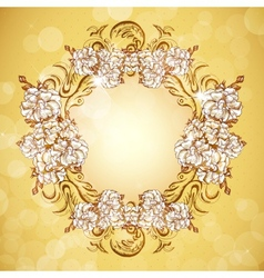Floral frame in vintage style vector image