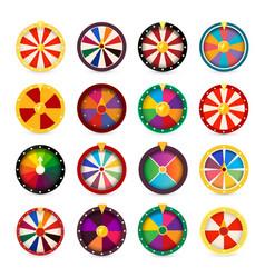 fortune wheels gambling games logo set vegas vector image