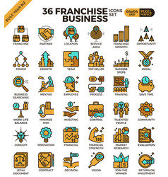 Franchise business icons vector