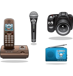 gadgets and devices in cartoon style vector image