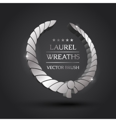 Gold silver bronze laurel wreath vector