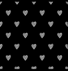 Hand drawn hearts pattern vector