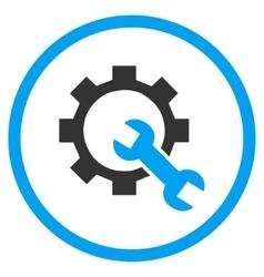 Hardware maintenance flat rounded icon vector