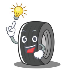 Have an idea tire character cartoon style vector