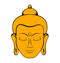 head buddha icon cartoon vector image