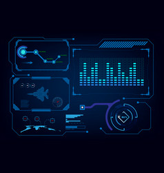 hud gui interface virtual artificial intelligence vector image