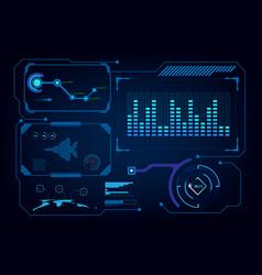 hud gui interface virtual artificial intelligence vector image