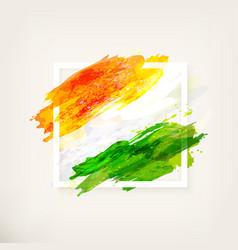 indian flag in frame vector image