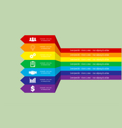 infographics in rainbow color vector image