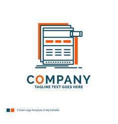 Internet page web webpage wireframe logo design vector
