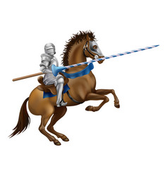 jousting knight vector image