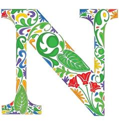 Letter N vector image vector image