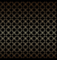 linear black and gold geometric seamless pattern vector image