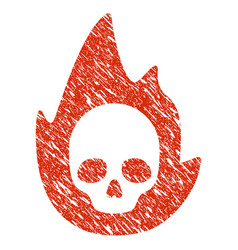 Mortal flame icon grunge watermark vector