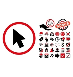 Mouse Pointer Flat Icon with Bonus vector image