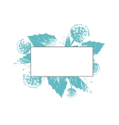 Natural floral frame vector