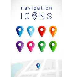 navigation pointer icons vector image
