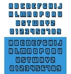 Old video game font vector
