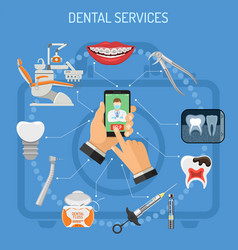 Online dentistry concept vector