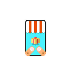 online trade concept purchase goods in the vector image