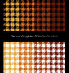 Orange lumberjack pattern collection vector