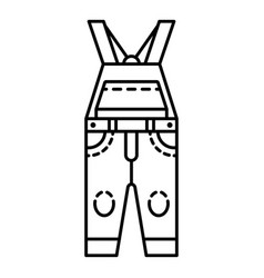 Overalls icon outline style vector