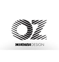 oz o z lines letter design with creative elegant vector image